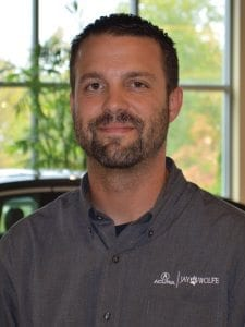 Dusty Hancock at Jay Wolfe Acura Service Department