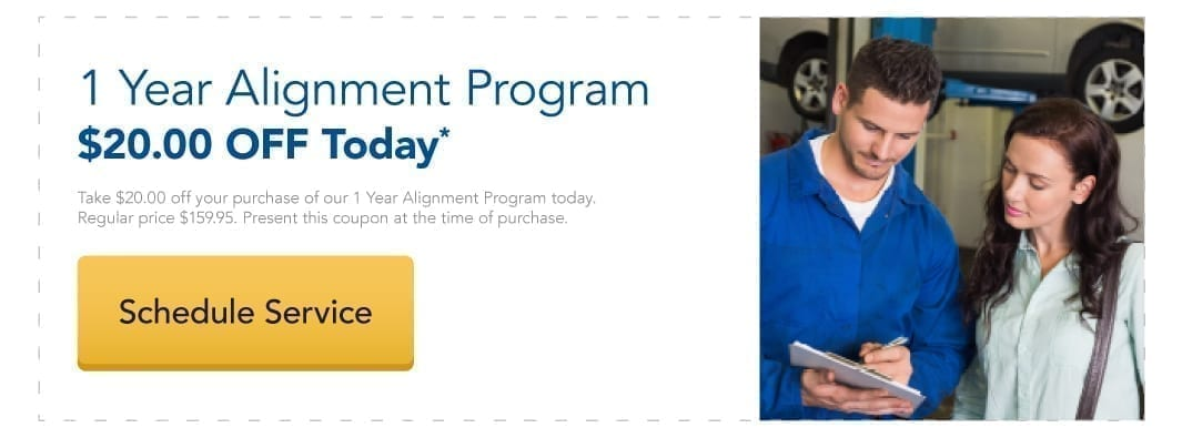 $20 Off our 1 Year Alignment Program today.