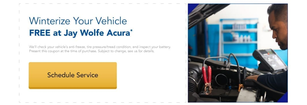 Winterize your vehicle at Jay Wolfe Acura