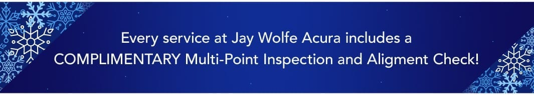 Every service with us includes a Complimentary Multi-Point Inspection and Alignment Check!