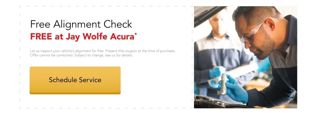 Free Alignment Check at Jay Wolfe Acura