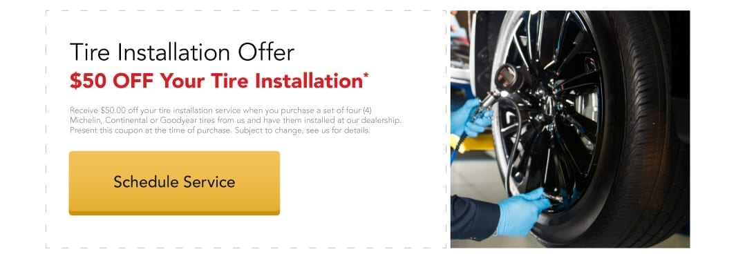 $50 Off Your Tire Installation Service