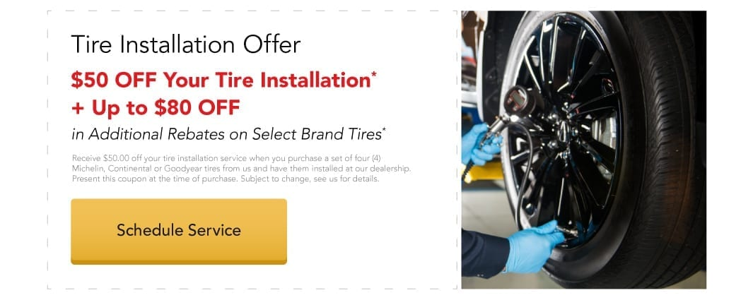 Tire Installation Special